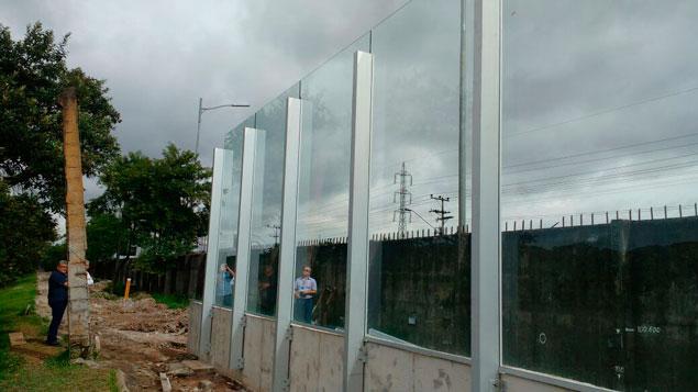 Novo muro da USP parte interna
